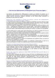 NF Service EHPA : Questions / Réponses - Marque NF