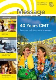 Message issue 1/2008 (PDF | 5,3 MB - Messe Stuttgart