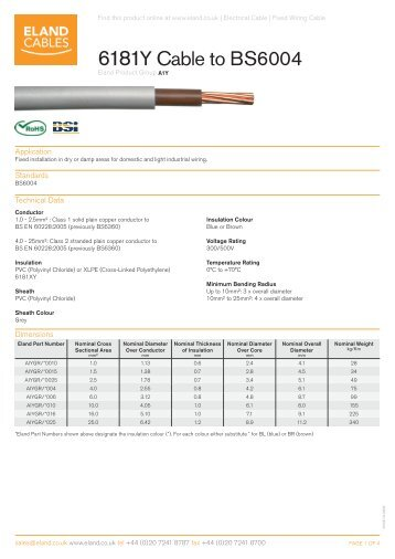 Electrical characteristic 6181y cable to bs6004 eland cables keyboard keysfo Images