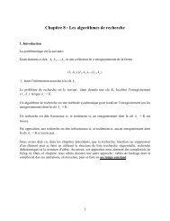 Recherche en tables - UQAC