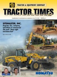 SITEMASTER, INC. - TEC Tractor Times