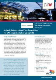 Unibail-Rodamco Lays Firm Foundation for SAP ... - IDS Scheer AG