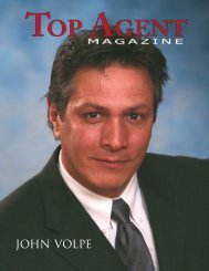JOHN VOLPE - Top Agent Magazine