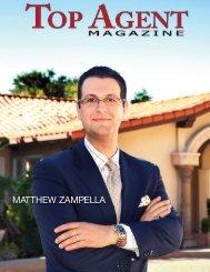 MATTHEW ZAMPELLA - Top Agent Magazine