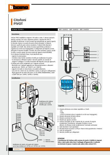 Schema Collegamento Elvox 831 : Schema elettrico citofono elvox interphone