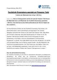 Fachklinik Enzensberg spendet an Füssener Tafel
