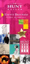 Events Brochure - Hunt Museum