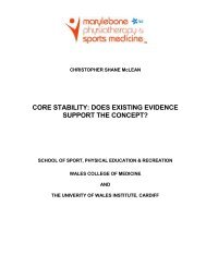 Core stability - Does existing evidence support the concept
