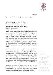 Tag des herzkranken Kindes - Deutschen Gesellschaft für Thorax ...