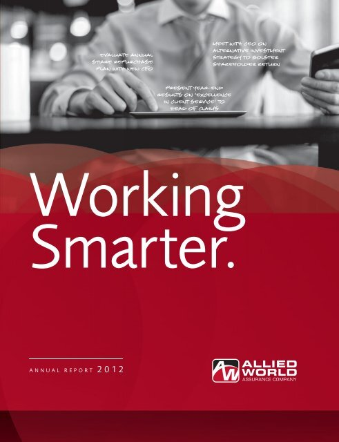 Allied World Assurance Comapny Annual Report 2012