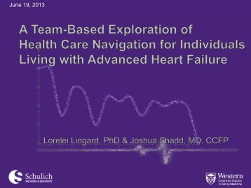 A Team-Based Exploration of Health Care Navigation for Individuals ...