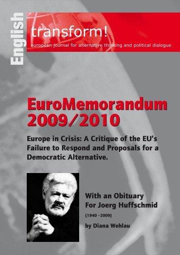 English EuroMemorandum 2009/2010 EuroMemorandum 2009/2010