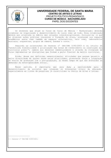 Papel dos Docentes - UFSM