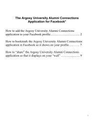 The Boston College Alumni Connections ... - Argosy University