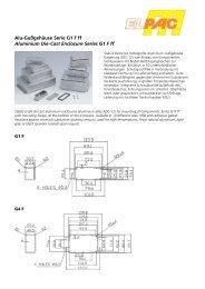 Alu-Gußgehäuse Serie G1 F ff Aluminium Die-Cast Enclosure Series ...