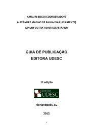 GUIA DE PUBLICAÇÃO EDITORA UDESC