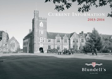 Current Information (PDF) - Blundell's School