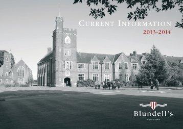 Current Information (PDF) - Blundell's School