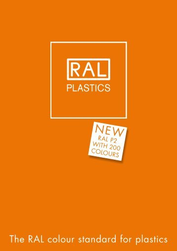 The RAL colour standard for plastics