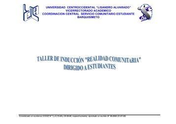 vicerrectorado academico coordinacion central servicio comunitario ...