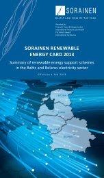 SORAINEN Renewable Energy Card 2013, Baltics and Belarus 1 ...