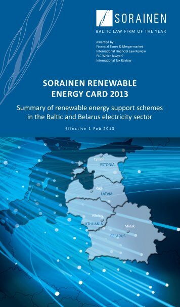 SORAINEN Renewable Energy Card 2013, Baltics and Belarus 1 ...
