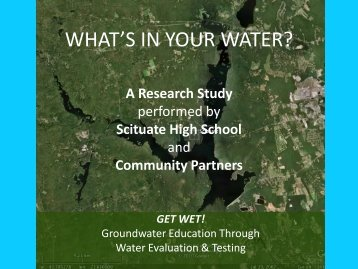 WHAT'S IN YOUR WATER? - University of Rhode Island