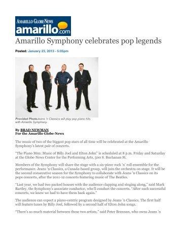 Amarillo Symphony celebrates pop legends - Jeans 'n Classics