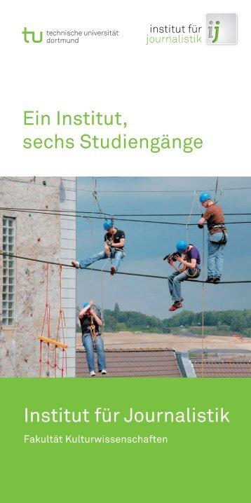 """Flyer: """"Ein Institut, sechs Studiengänge"""" (2011)"""