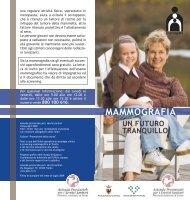 Mammografia un futuro tranquillo - Azienda Provinciale per i Servizi ...