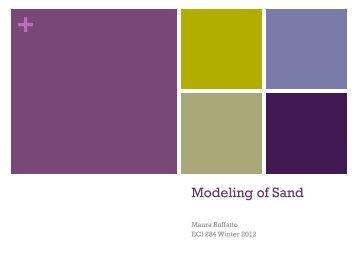 Modeling of Sand