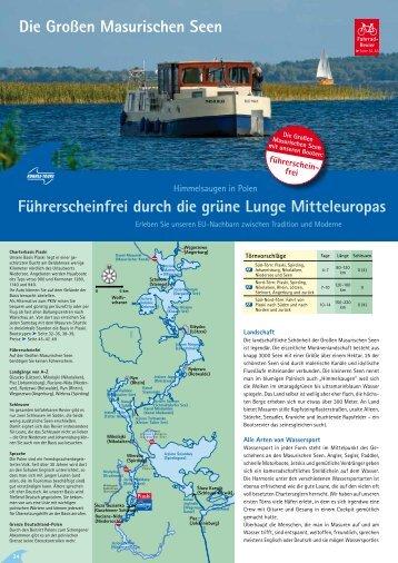 Die Großen Masurischen Seen Führerscheinfrei durch die grüne ...