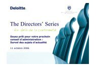The Directors' Series - Deloitte & Touche Canada
