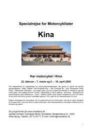Specialrejse for Motorcyklister - Smedebøl.dk
