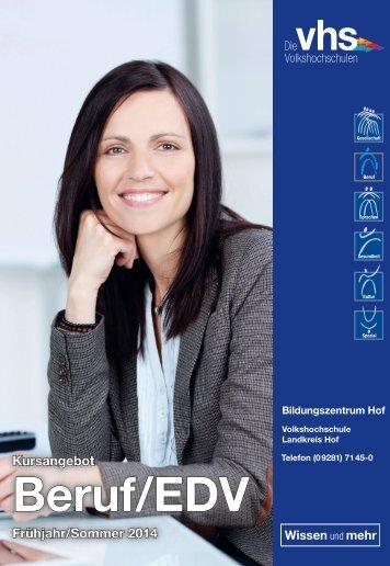 Beruf und Karriere - Volkshochschule im Landkreis Hof