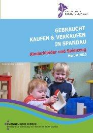GEBRAUCHT KAUFEN & VERKAUFEN IN SPANDAU - Kirchenkreis ...