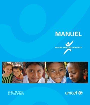 Manuel des écoles amies des enfants - Unicef