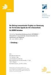 Der Beitrag transnationaler Projekte zur Umsetzung der ... - Cerim.org