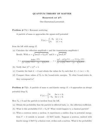 Quantum physics homework help