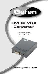 DVI to VGA Converter - Gefen