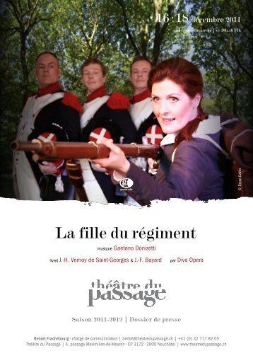 La fille du régiment - Théâtre du Passage