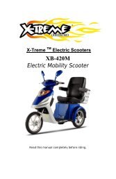 XB-420M Electric Mobility Scooter - X-Treme