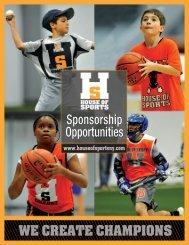 download sponsorship brochure - House Of Sports