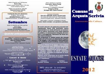 Brochure manifestazioni estive 2012 .pub - Eventi e sagre