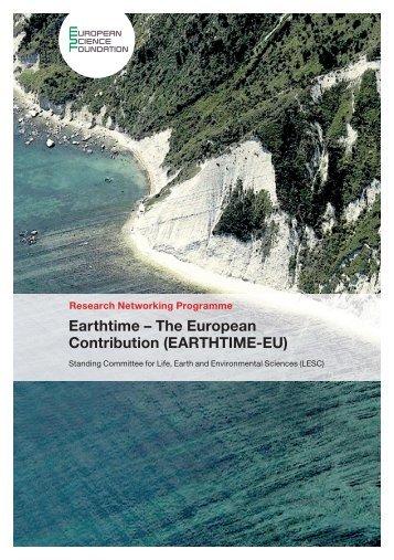 EARTHTIME-EU - European Science Foundation