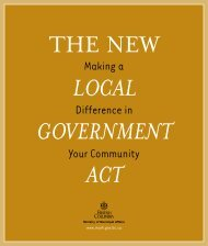 The New Local Government Act - Ministry of Community, Sport and ...