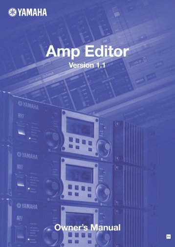 Amp Editor Owner's Manual - Yamaha Commercial Audio