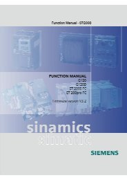 sinamics / simatic - Siemens