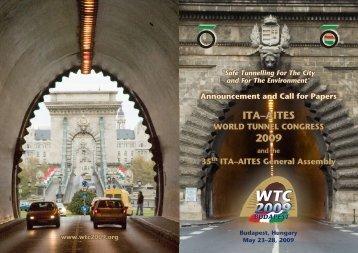 ITA–AITES 2009 - World Tunnel Congress 2009 Entry