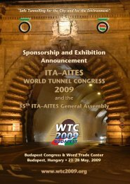 Call for sponsorship and exhibition - World Tunnel Congress 2009 ...